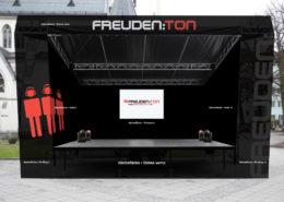 Mobile Bühne Branding