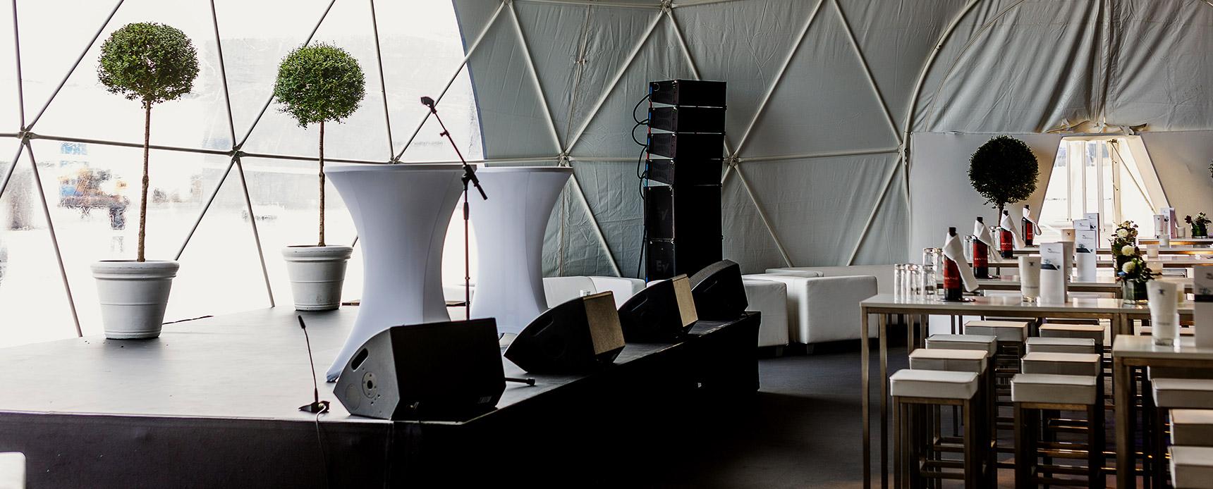 Konventionelle Bühne