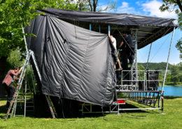 SmartStage 50 Trailerbühne Aufbau